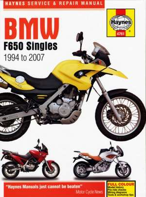 Coombs, M: BMW F650 (94 - 07)