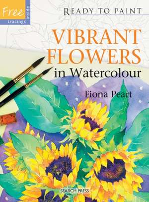 Vibrant Flowers in Watercolour de Fiona Peart