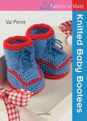 Knitted Baby Bootees de Val Pierce