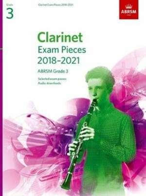 Clarinet Exam Pieces 2018-2021, ABRSM Grade 3 imagine