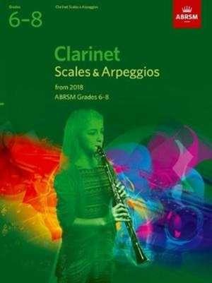 Clarinet Scales & Arpeggios, ABRSM Grades 6-8 imagine