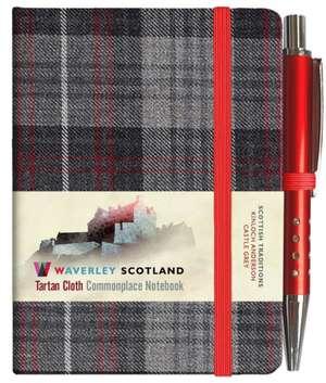 Waverley S.T. (S): Castle Grey Mini with Pen Pocket Genuine Tartan Cloth Commonplace Notebook