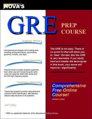 GRE Prep Course [With CDROM]:  The Game of Split Second Charades de Jeff Kolby
