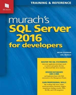 Murachs SQL Server 2016 for Developers