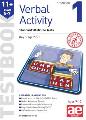 11+ Verbal Activity Year 5-7 Testbook 1