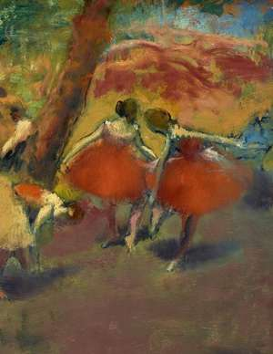 Degas Sketchbook. Before the Performance imagine