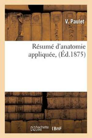 Resume D'Anatomie Appliquee