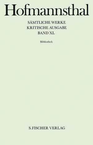 Saemtliche Werke Bd.40 Bibliothek