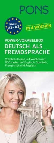 PONS Power-Vokabelbox Deutsch als Fremdsprache in 4 Wochen