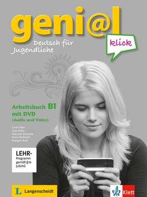 geni@l klick / Arbeitsbuch mit DVD (Audio und Video) B1