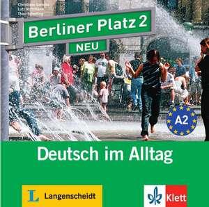 Berliner Platz 2 NEU - 2 Audio-CDs zum Lehrbuchteil de Christiane Lemcke