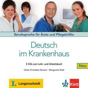 Deutsch im Krankenhaus Neu - 2 Audio-CDs de Margret Rodi