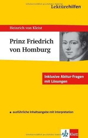 Lektuerehilfen Heinrich von Kleist Prinz Friedrich von Homburg