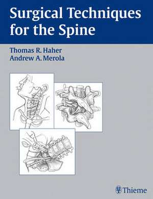 Surgical Techniques for the Spine imagine