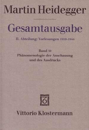 Phaenomenologie der Anschauung und des Ausdrucks