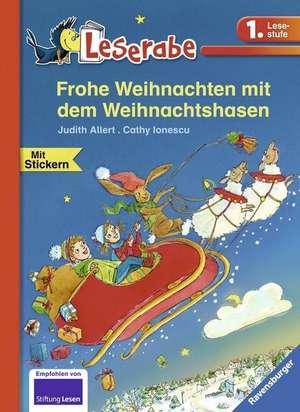 Frohe Weihnachten mit dem Weihnachtshasen de Judith Allert