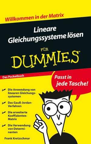 Lineare Gleichungssysteme lösen für Dummies de Frank Kretzschmar