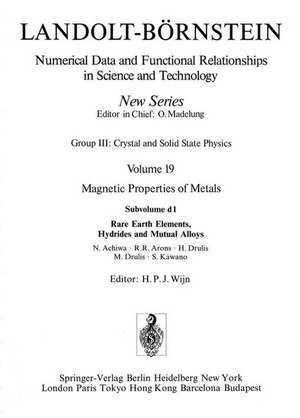 Rare Earth Elements, Hydrides and Mutual Alloys de N. Achiwa