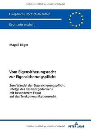 Vom Eigensicherungsrecht zur Eigensicherungspflicht de Magali Boger