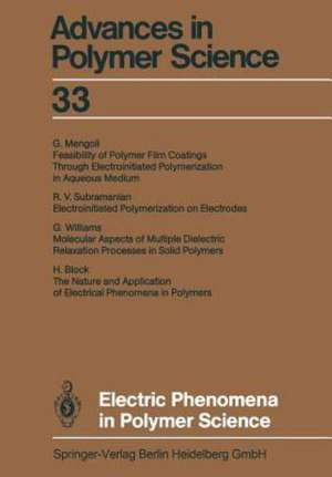 Electric Phenomena in Polymer Science de Akihiro Abe