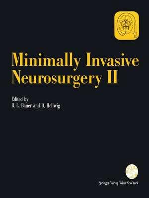 Minimally Invasive Neurosurgery II de Bernhard L. Bauer