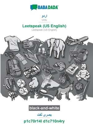 BABADADA black-and-white, Urdu (in arabic script) - Leetspeak (US English), visual dictionary (in arabic script) - p1c70r14l d1c710n4ry de  Babadada Gmbh