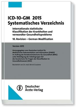 ICD-10-GM 2015Systematisches Verzeichnis
