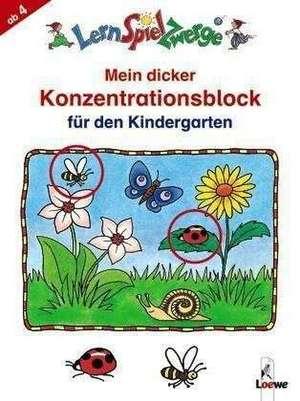 Mein dicker Konzentrationsblock fuer den Kindergarten