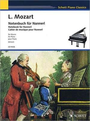 Notenbuch für Nannerl de Leopold Mozart
