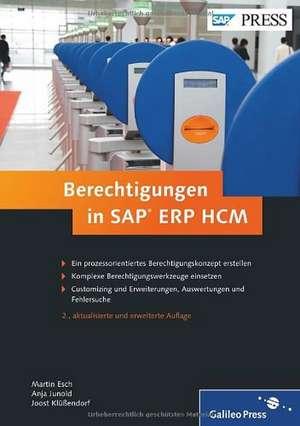 Berechtigungen in SAP ERP HCM de Martin Esch