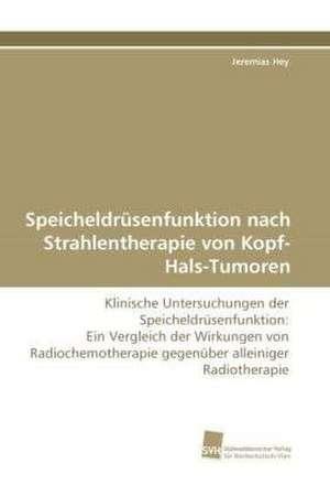 Speicheldruesenfunktion nach Strahlentherapie von Kopf-Hals-Tumoren