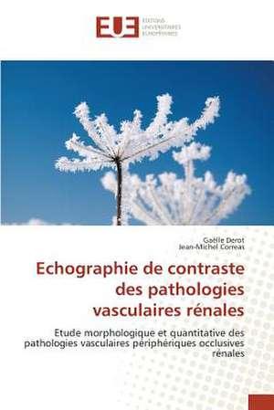 Echographie de Contraste Des Pathologies Vasculaires Renales