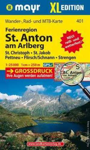 St. Anton am Arlberg XL 1 : 25 000