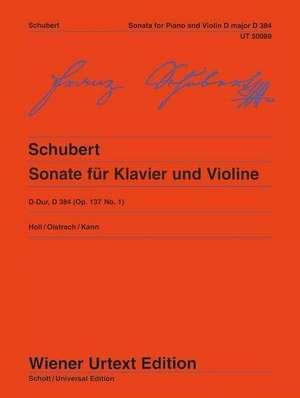 Sonate für Klavier und Violine D-Dur de Franz Schubert