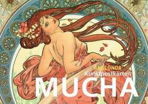 Postkartenbuch Alfons Mucha de Alfons Mucha