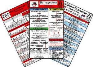 Notfallmedizin Karten-Set - Herzrhythmusstoerungen, Notfallmedikamente, Reanimation