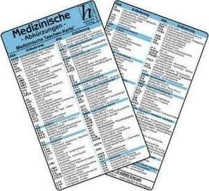 Medizinische Abkuerzungen - Medizinische Taschen-Karte