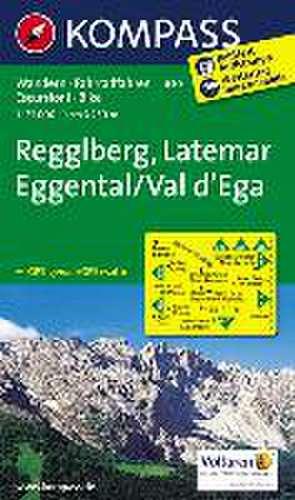 Regglberg - Latemar - Eggental / Val d'Ega 1 : 25 000