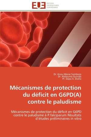 Mecanismes de Protection Du Deficit En G6pd(a) Contre Le Paludisme