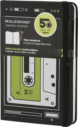 Moleskine Hard Audiocassette Limited Edition Plain Notebook Pocket