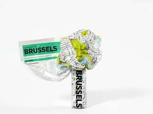 Crumpled City Map - Brussels