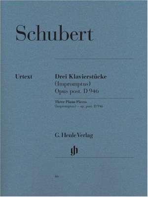 3 Klavierstücke D 946 de Franz Schubert