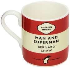 Cană roșie Penguin - Man and Superman - George Bernard Shaw