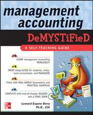 Management Accounting Demystified