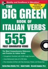 The Big Green Book of Italian Verbs (Book w/CD-ROM): 555 Fully Conjugated Verbs