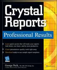 Crystal Reports Professional Results