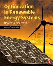 Optimization in Renewable Energy Systems: Recent Perspectives