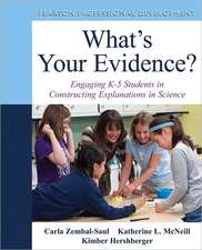 What's Your Evidence?:  Engaging K-5 Students in Constructing Explanations in Science [With DVD]