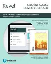 Revel for Social Psychology: Goals in Interaction -- Combo Access Card