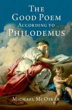 The Good Poem According to Philodemus
